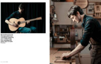 Alex bishop guitar maker photographed by Francesca Jones for Crafts magazine at his studio in Corsham, Wiltshire