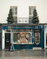 Rococo chocolate shop, flagship store on motcomb street, belgravia, London photographed for Monocle magazine.