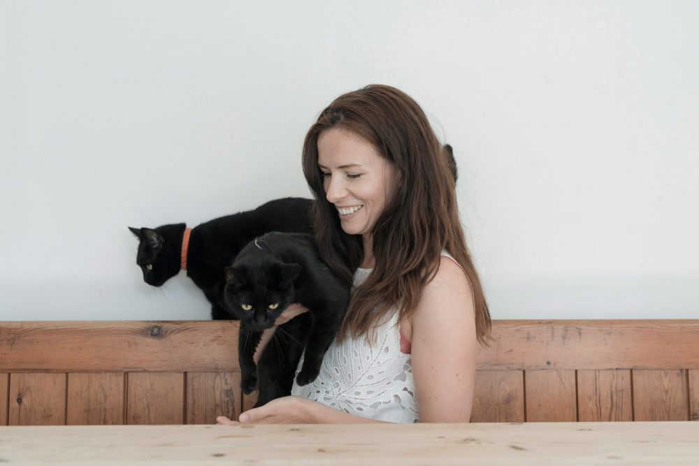 portrait; london; wales; photographer; pets; animals; cats; domestic; royal canin; guardian; kate faithfull-williams; summer; black cat; editorial; magazine; commercial; francesca jones