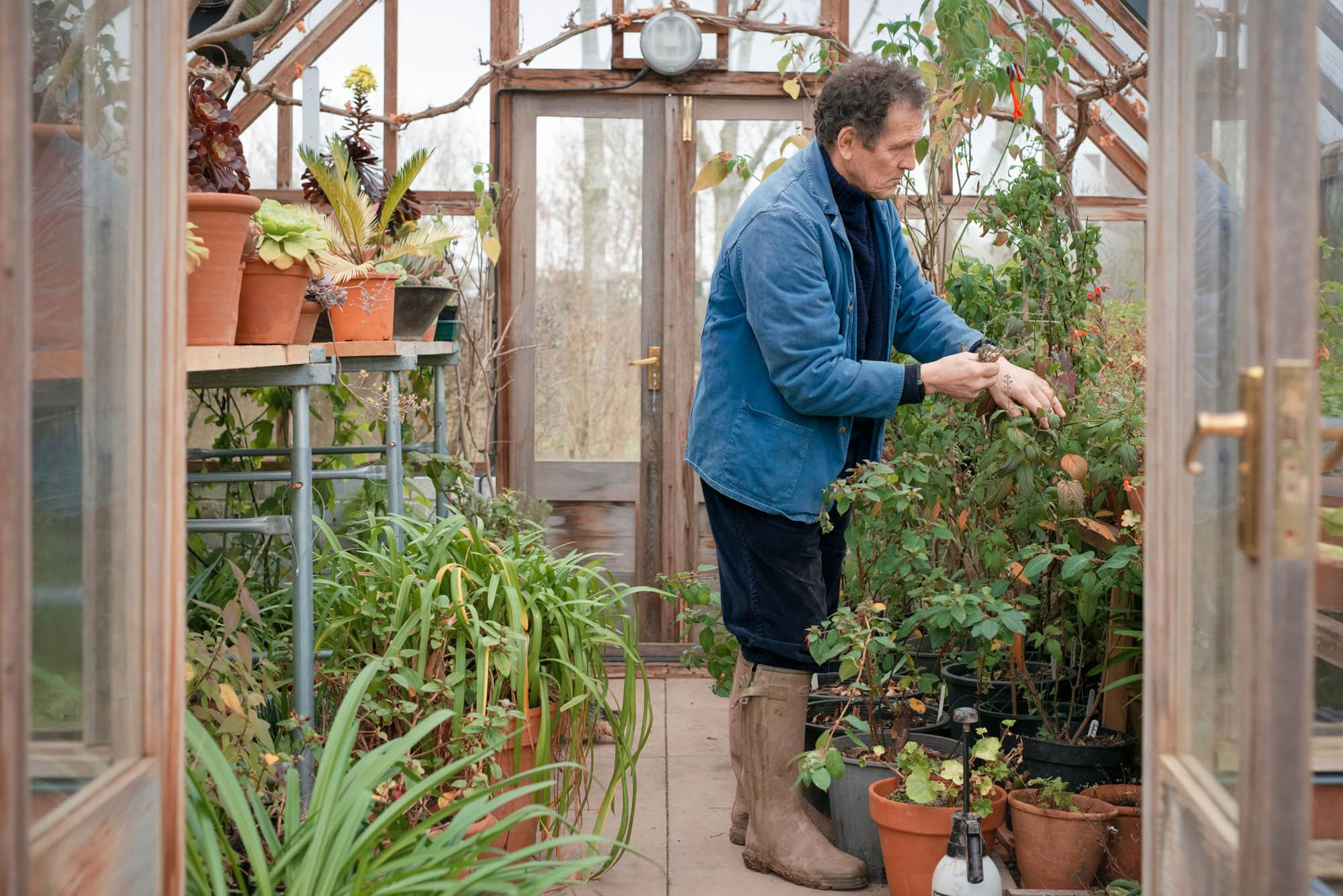 monty don; bbc; gardener's world; garden; nature; netflix; spring; outdoors; grow your own; vegetable; therapy; mental health; new york times; herefordshire; portrait; portraiture; photographer